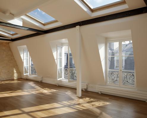 Séjour au dernier étage du 23 rue Pierre Leroux, Paris 7