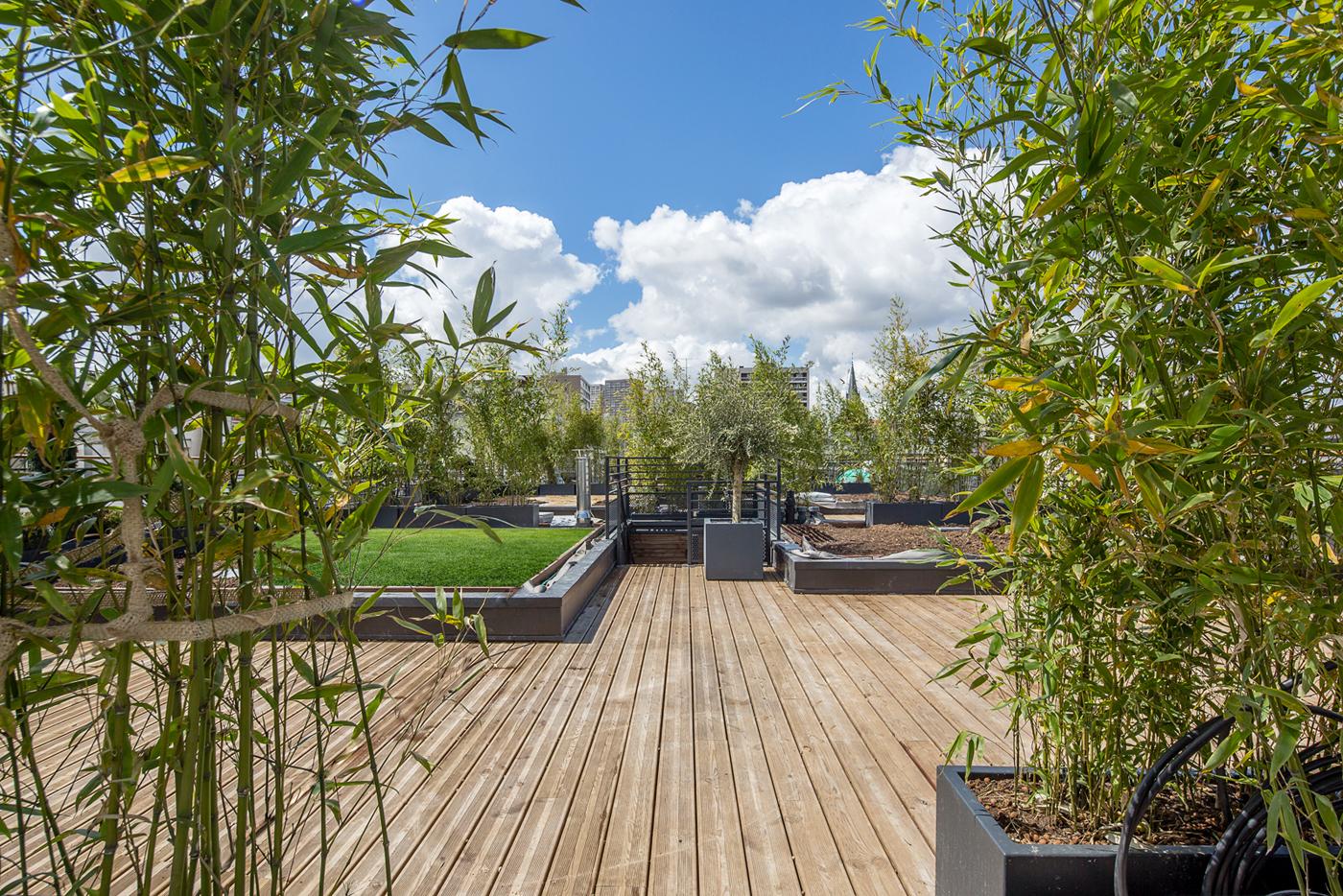 Maisons sur toit charcot paris esprimm for Jardin avec terrasse