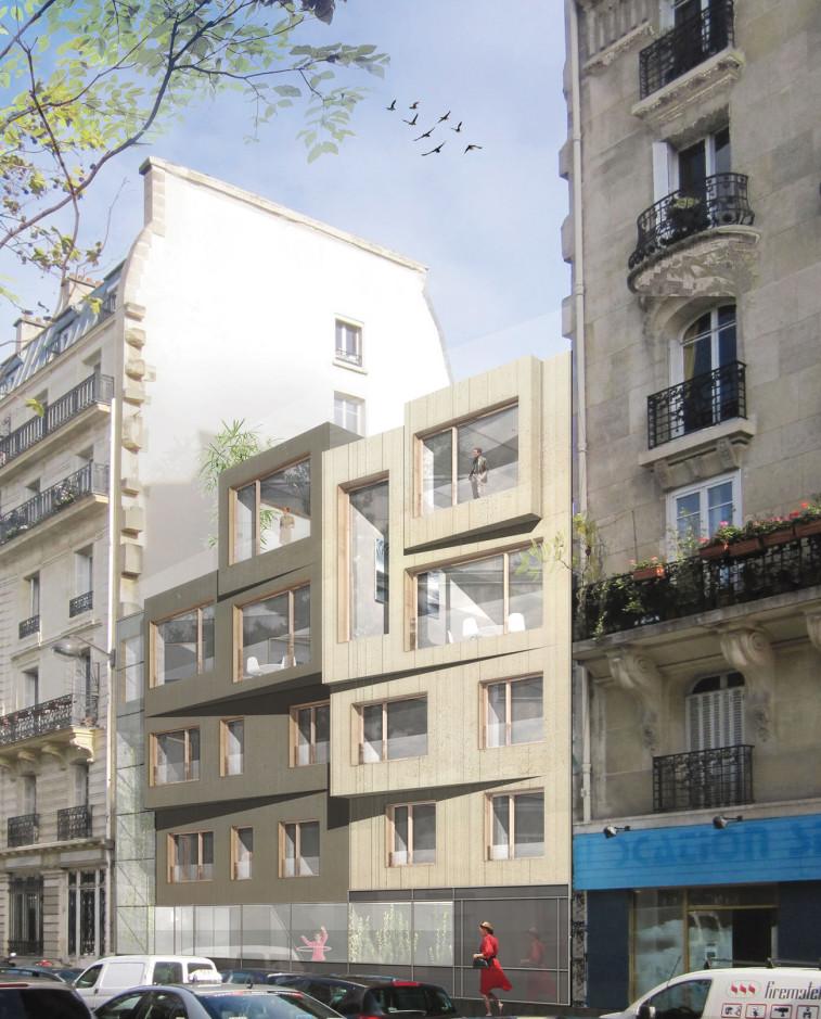 vue façade du 50 boulevard Richard Lenoir à Paris 11