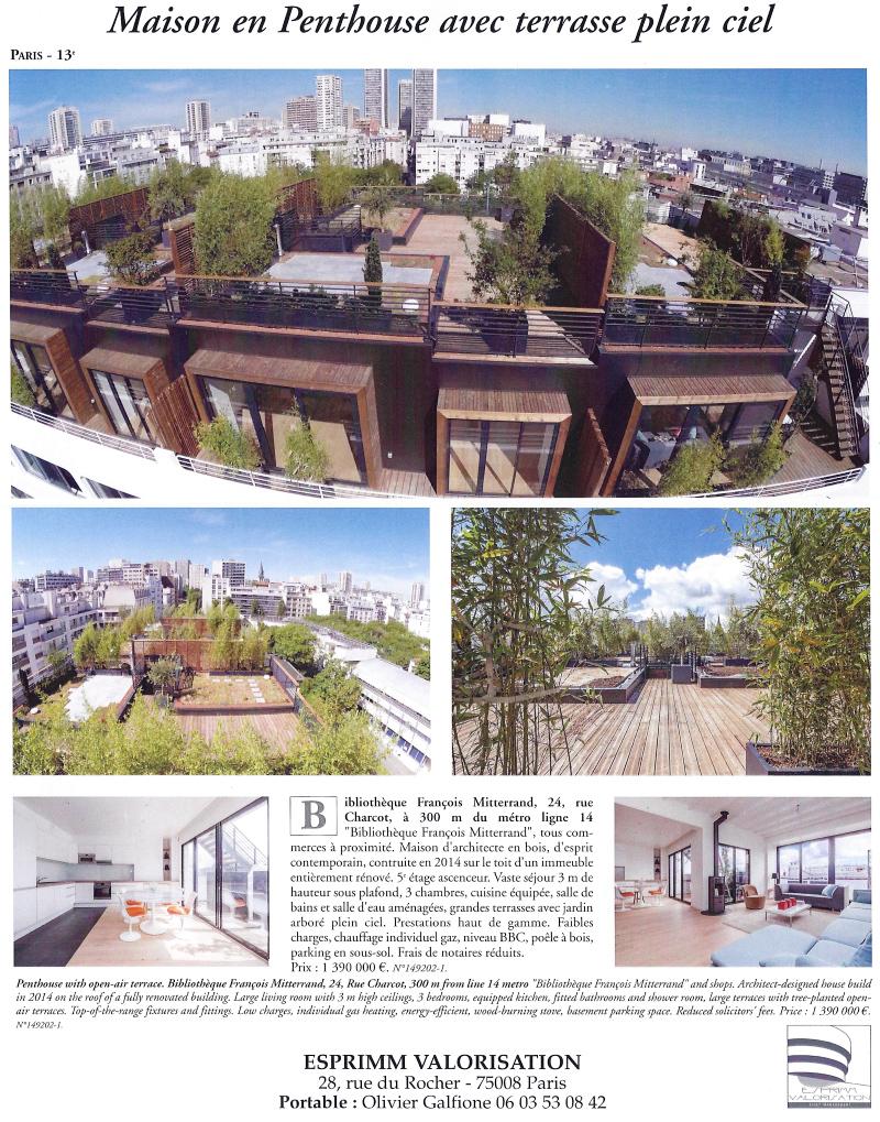 Scan article de presse Figaro, Propriétés de France, Charcot Paris 13