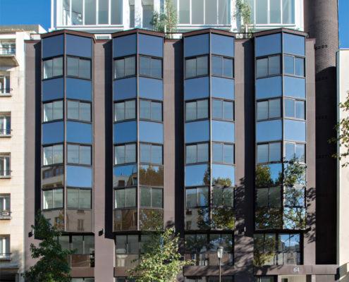 façade 64 avenue Pierre Grenier à Boulogne Billancourt - opération surrélévation ESPRIMM