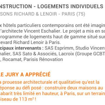 article esprimm Trophées de la Construction Batiactu 2016