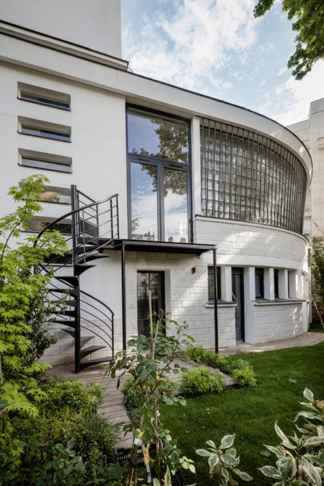 14 rue Telles de la Poterie, 92130 Issy-les-Moulineaux, Le Macassar, Esprimm, façade et jardin