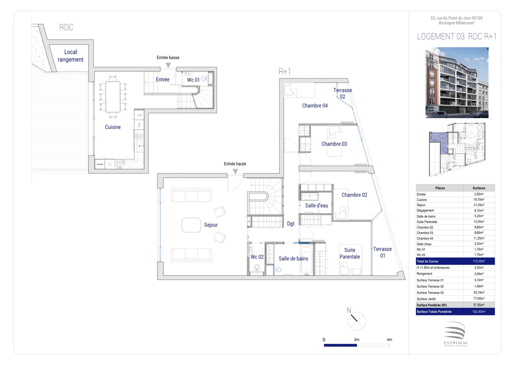 plan appartement point du jour