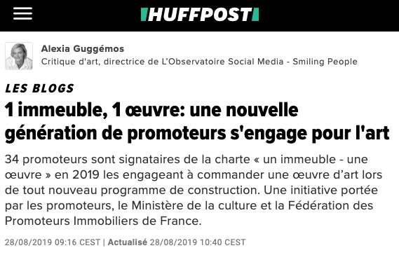 Article Presse Huffpost - Esprimm - 1 immeuble 1 oeuvre