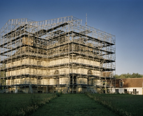 Le Pavillon Royal de la Muette en cours de restoration